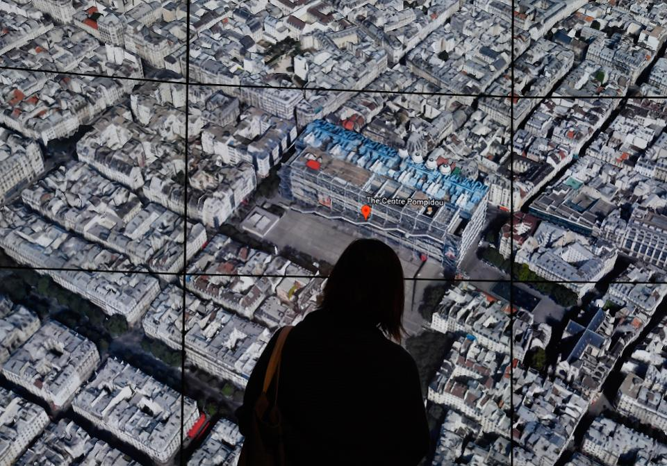 Google earth VIew of Paris - Forbes GE&GM article